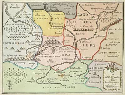 German Map Poster