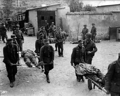 German Prisoners Carry Their Fallen Poster by Everett