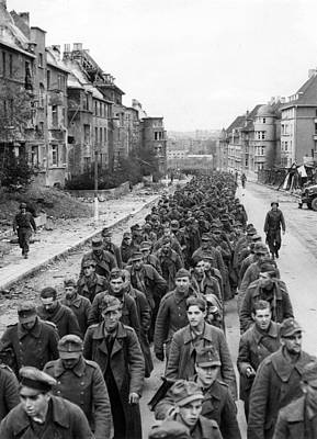 German Prisoners Of War Marching Poster by Everett