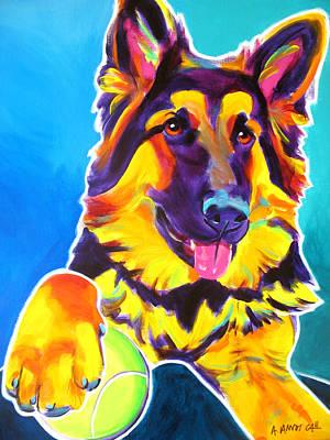 German Shepherd - Mace Poster by Alicia VanNoy Call