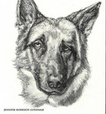 German Shepherd Sketch No.1 Poster