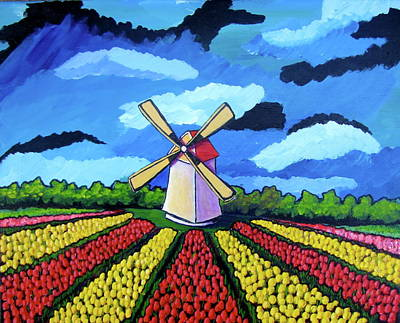 German Tulip Field Poster