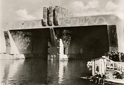 German U-boat Pens Poster by Eye On The Reich: German Propaganda Photographs/new York Public Library