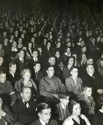 Germans Attend The Theater To View Nazi Poster