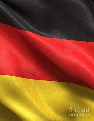 Poster featuring the photograph Germany Flag by Carsten Reisinger