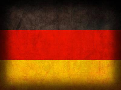 Germany Flag Vintage Distressed Finish Poster