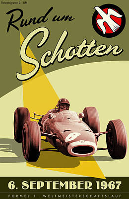 Germany Grand Prix F1 1967 Poster by Georgia Fowler