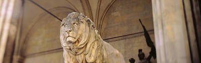 Germany, Munich, Lion Sculpture Poster by Panoramic Images