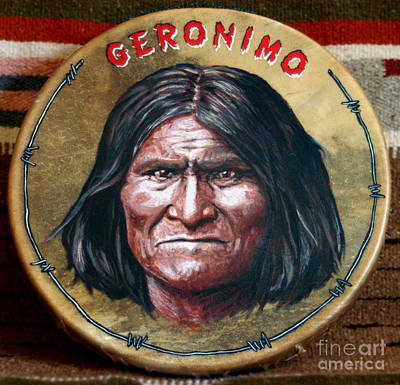 Geronimo Drum Poster by Stu Braks