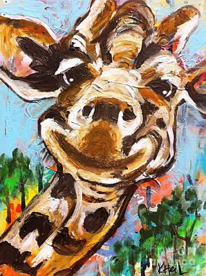 Gerry The Giraffe Poster