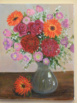 Poster featuring the painting Get Well Flowers by Catherine Hamill
