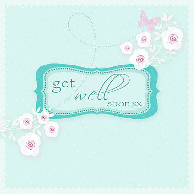 Get Well Soon Poster by P.s. Art Studios