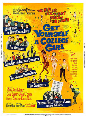 Get Yourself A College Girl, Us Poster Poster by Everett