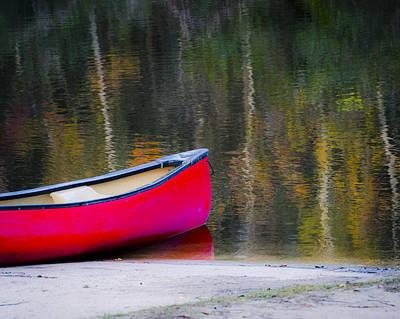 Getaway Canoe Poster by Carolyn Marshall
