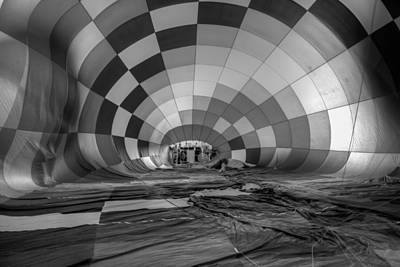 Getting Inflated-bw Poster by Tom Weisbrook