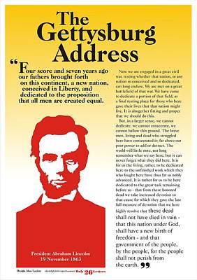 Gettysburg Address Poster by Alan Levine