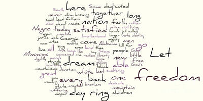 Gettysburg Address And I Have A Dream Poster by David Bearden