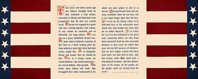 Gettysburg Address Poster by Gary Grayson