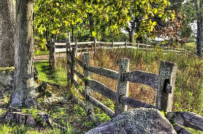 Poster featuring the photograph Gettysburg At Rest - Late Summer Along The J. Weikert Farm Lane by Michael Mazaika