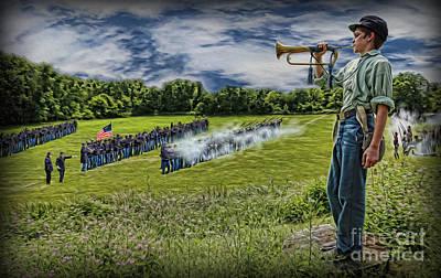 Gettysburg Battle Hymn - The Civil War  Poster by Lee Dos Santos