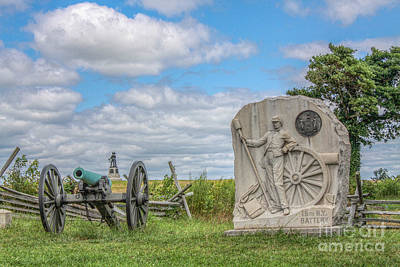 Gettysburg Battlefield 15th Ny Battery Cannon  Poster