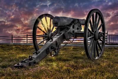 Gettysburg Battlefield Cannon Poster by Susan Candelario