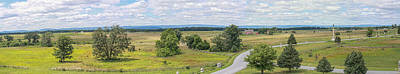 Gettysburg Panoramic From Top Of Pennsylvania Memorial Poster by Randy Steele
