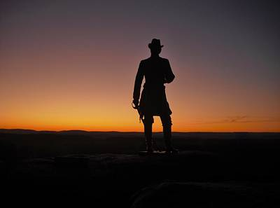 Poster featuring the photograph Gettysburg Sunset by Ed Sweeney