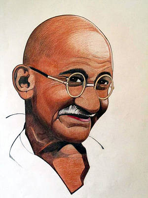 Ghandi Poster by Victor Carrington