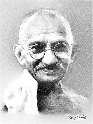 Ghandi Poster by Wayne Pascall