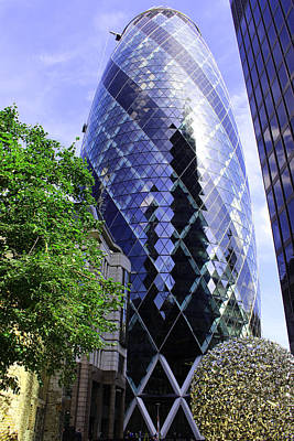 Gherkin 30 St Mary Axe Poster by Nicky Jameson