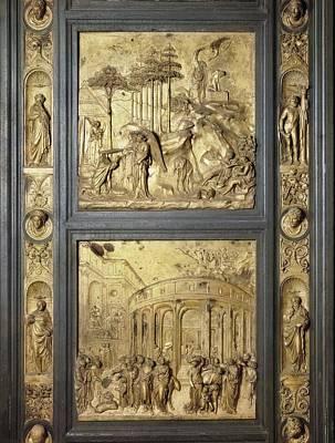 Ghiberti, Lorenzo 1378-1455. The Gates Poster by Everett
