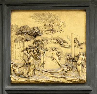 Ghiberti's Panel Of The Creation Poster by Sheila Terry