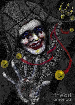 Ghost Harlequin Poster by Carol Jacobs
