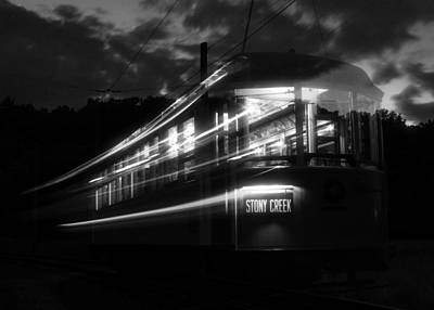 Poster featuring the photograph Ghost Of Trolleys Past II by Jim Poulos
