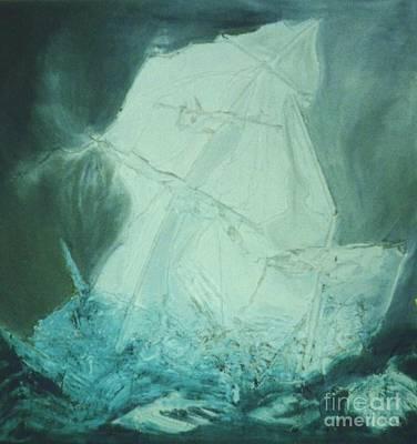 Ghost Ship Poster by Ann Fellows