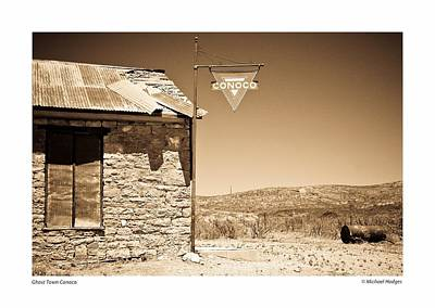 Ghost Town Conoco Poster