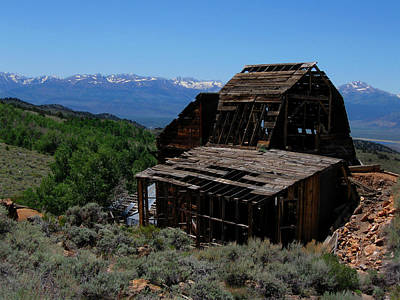 Ghost Town With View Of Eastern Sierras Poster