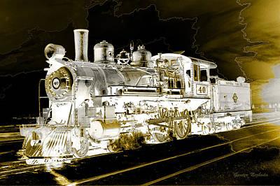 Ghost Train Poster by Gunter Nezhoda
