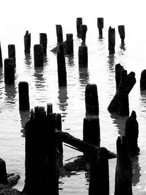 'ghostly Pilings' Poster