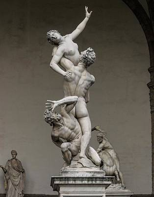 Giambologna's Rape Of The Sabine Women Poster by Brian Gadsby