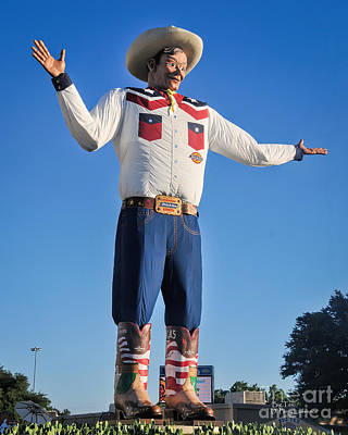 Giant Cowboy Big Tex State Fair Of Texas Poster by David Perry Lawrence