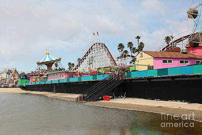 Giant Dipper At The Santa Cruz Beach Boardwalk California 5d23704 Poster