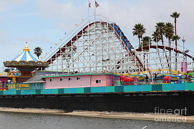 Giant Dipper At The Santa Cruz Beach Boardwalk California 5d23707 Poster
