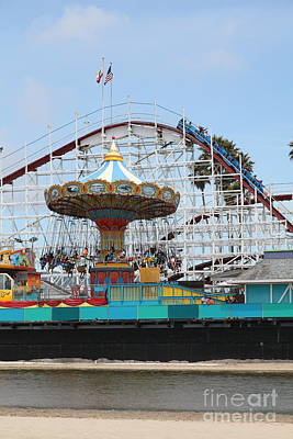 Giant Dipper At The Santa Cruz Beach Boardwalk California 5d23721 Poster