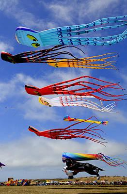 Giant Kites At The Berkeley Kite Festival Poster by Patricia Sanders