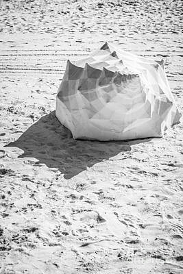 Giant Shell Sculpture 4  - Key West - Black And White Poster by Ian Monk