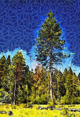 Giant Tree Abstract Poster
