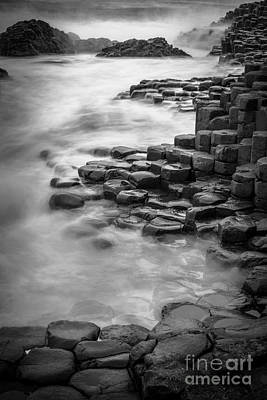 Giant's Causeway Waves  Poster by Inge Johnsson