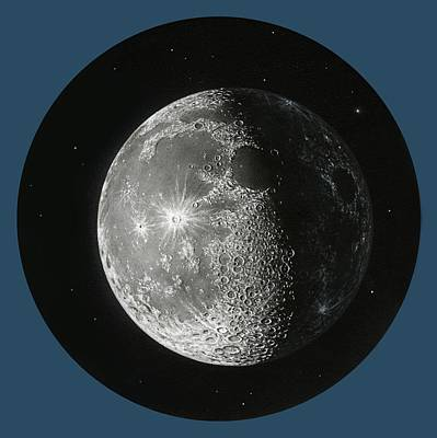 Gibbous Moon, Artwork Poster by Science Photo Library